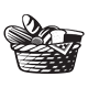 menu Room Service Basket